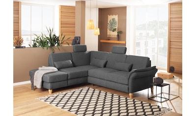 Home affaire Ecksofa »Palazzo«, incl. Sitztiefenverstellung, wahlweise mit Bettfunktion und Stauraum,Federkern kaufen