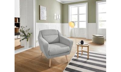 andas Sessel »Bille«, mit Naht im Rückenkissen und Eiche-Beinen, Design by Morten Georgsen kaufen