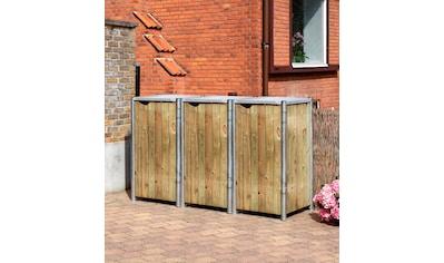 HIDE Mülltonnenbox für 3 x 120 l, natur kaufen