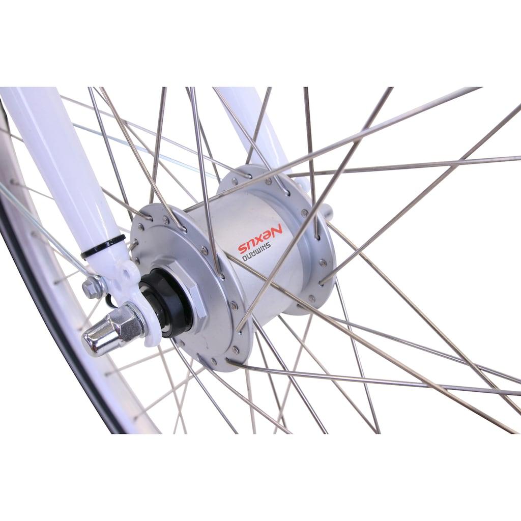 HAWK Bikes Cityrad »HAWK City Classic Joy White«, 3 Gang, Shimano, Nexus Schaltwerk