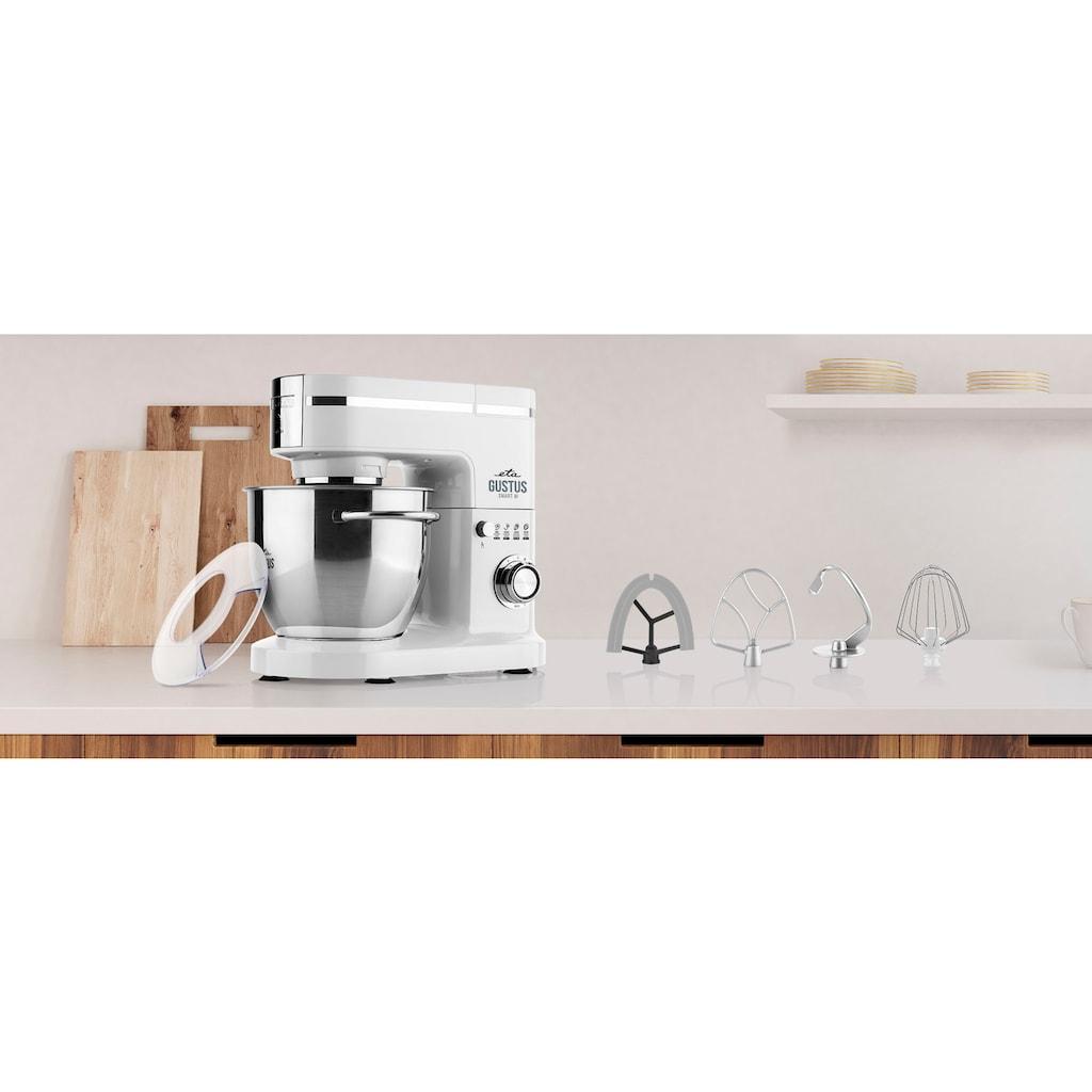 eta Küchenmaschine »Gustus Smart III ETA312890000«, 1200 W, 5,5 l Schüssel, Planeten-Rührwerk, PULSE Funktion, metallisches Getriebe, Schwenkarm-Sicherheitssystem, praktisches Zubehör, Edelstahl-Schüssel