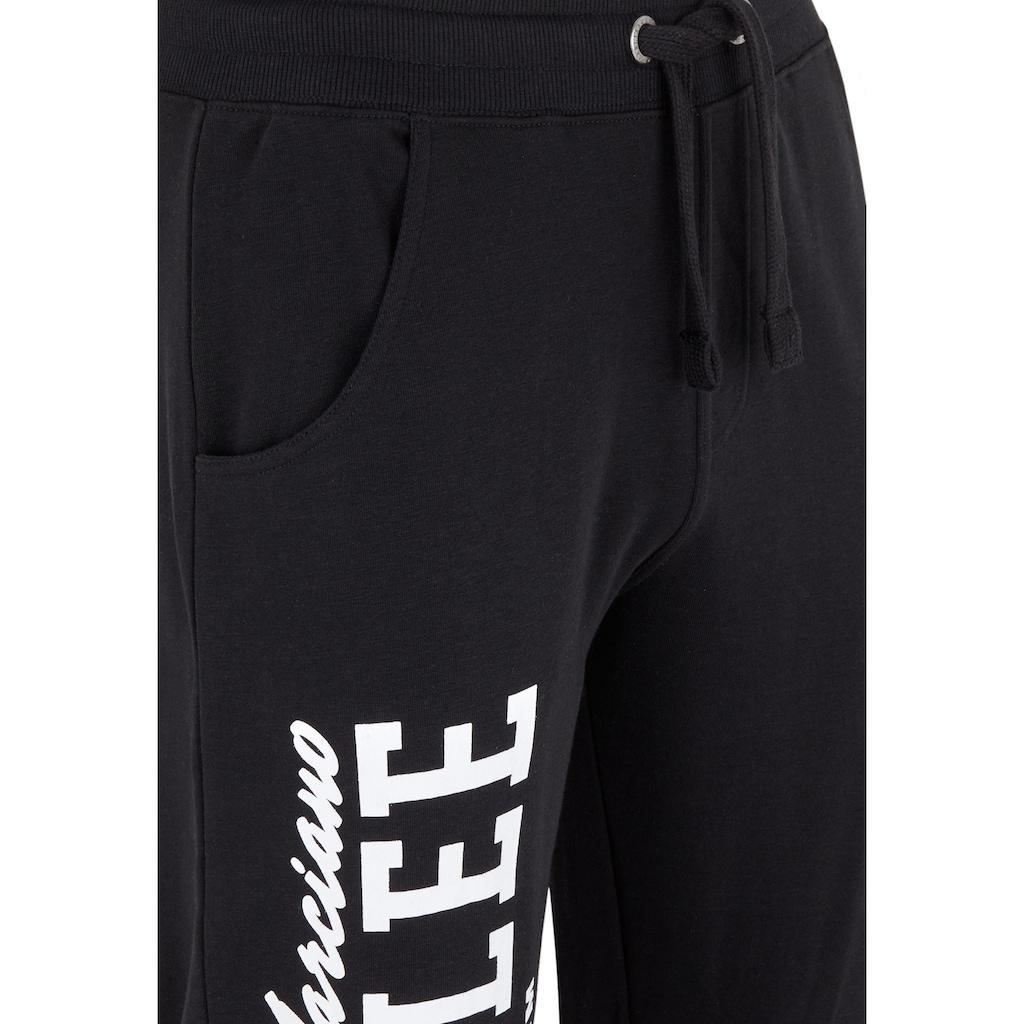 Benlee Rocky Marciano Sweathose mit Markendruck am Bein