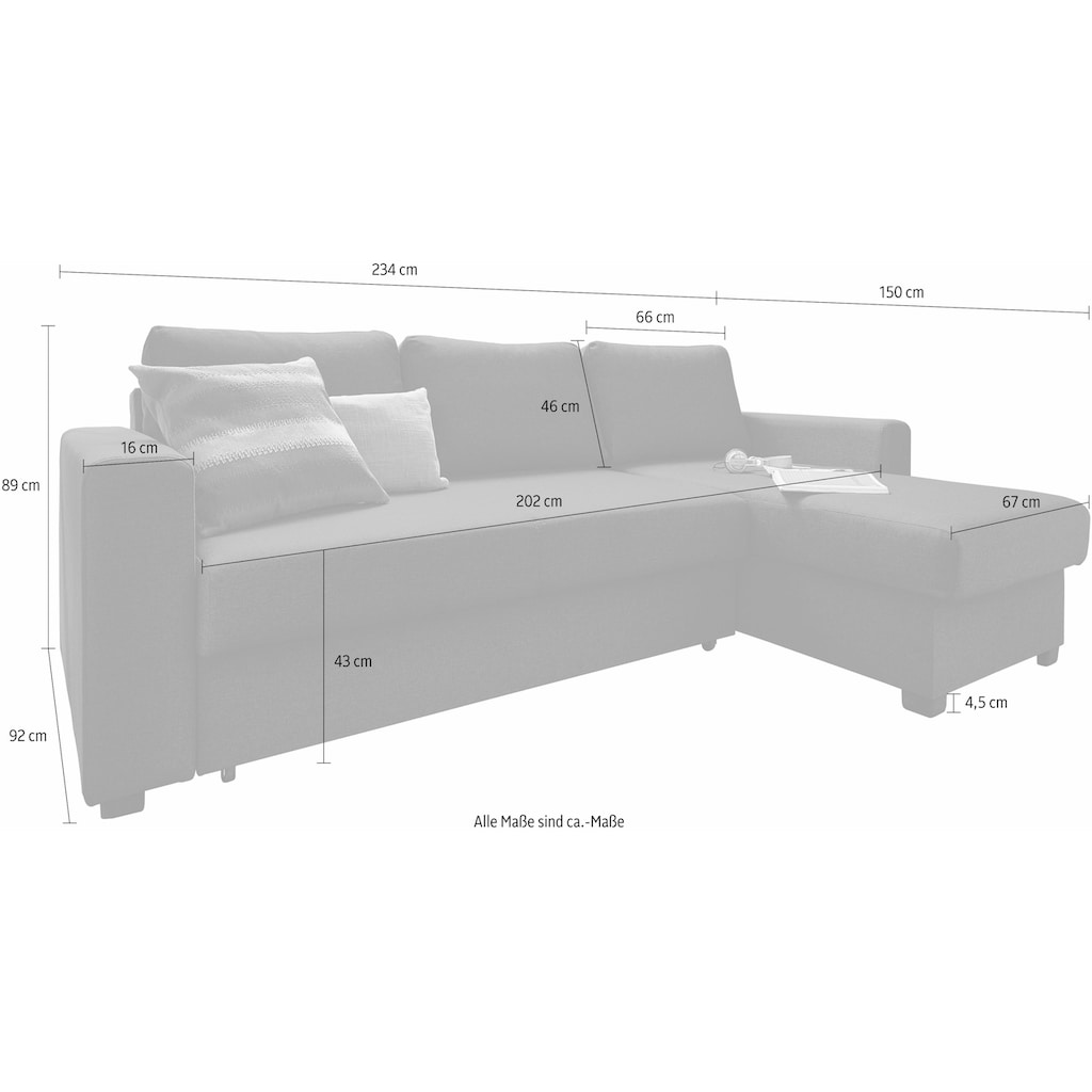 ATLANTIC home collection Ecksofa