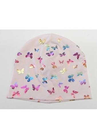 Chaplino Beanie, mit Schmetterlingsdruck in Regenbogenfarben kaufen