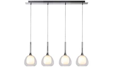 Brilliant Leuchten Hadan Pendelleuchte 4flg chrom/weiß - transparent kaufen