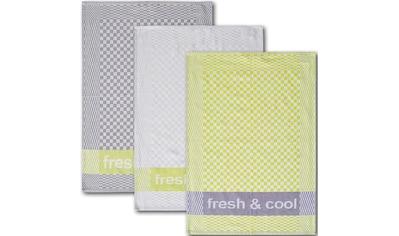 Dyckhoff Geschirrtuch »Fresh & Cool«, (Set, 6 tlg.), mit drei verschiedenen Motiven kaufen