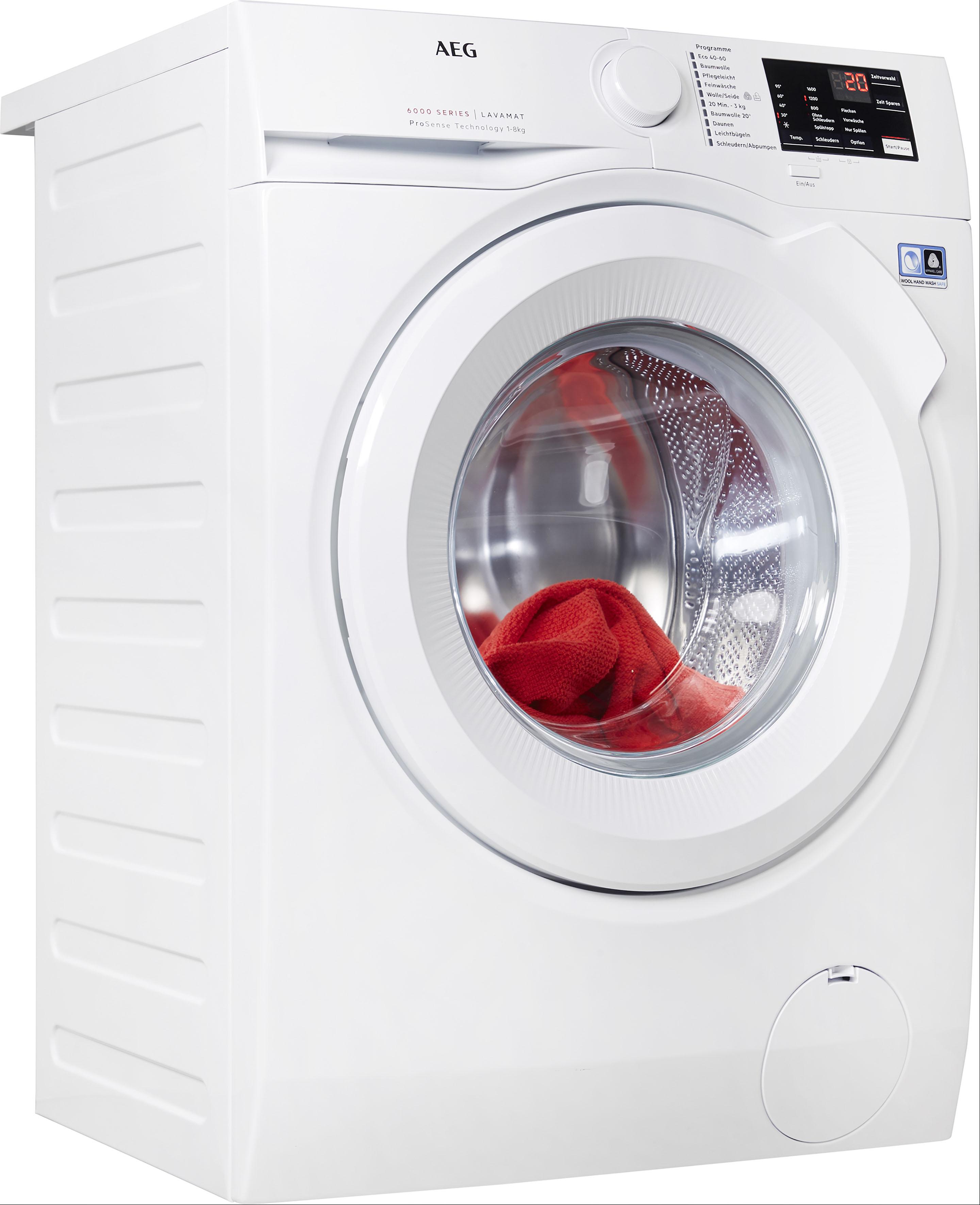 AEG Waschmaschine, L6FBA5680 EEK A+++ weiß Waschmaschinen Haushaltsgeräte Waschmaschine