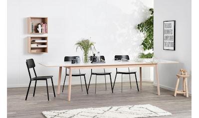hammel Esstisch »Avion«, Gestell in Eiche weiß pigmentiert, Danish Design kaufen