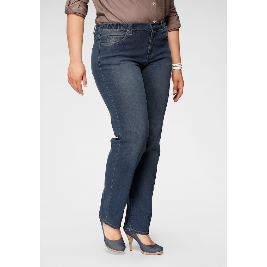 Arizona Straight-Jeans »Curve-Collection«, mit bequemen Dehnbund