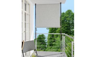 Angerer Freizeitmöbel Klemm-Senkrechtmarkise, granitgrau, BxH: 150x225 cm kaufen
