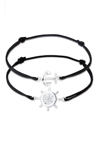 Elli Armband Set »Set Anker Steuerrad Freundschaft 925er Silber« kaufen
