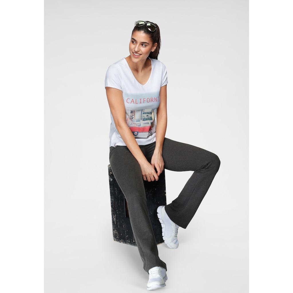 KangaROOS T-Shirt, mit sommerlichem Frontprint