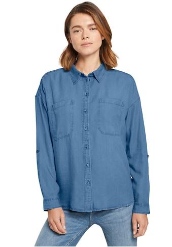 TOM TAILOR Denim Hemdbluse, in softer Denim Optik kaufen