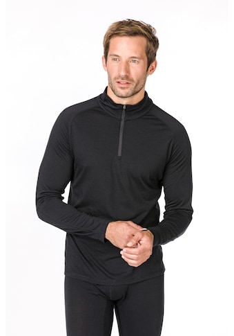 SUPER.NATURAL Langarmshirt »M BASE 1/4 ZIP 230«, pflegeleichter Merino-Materialmix kaufen