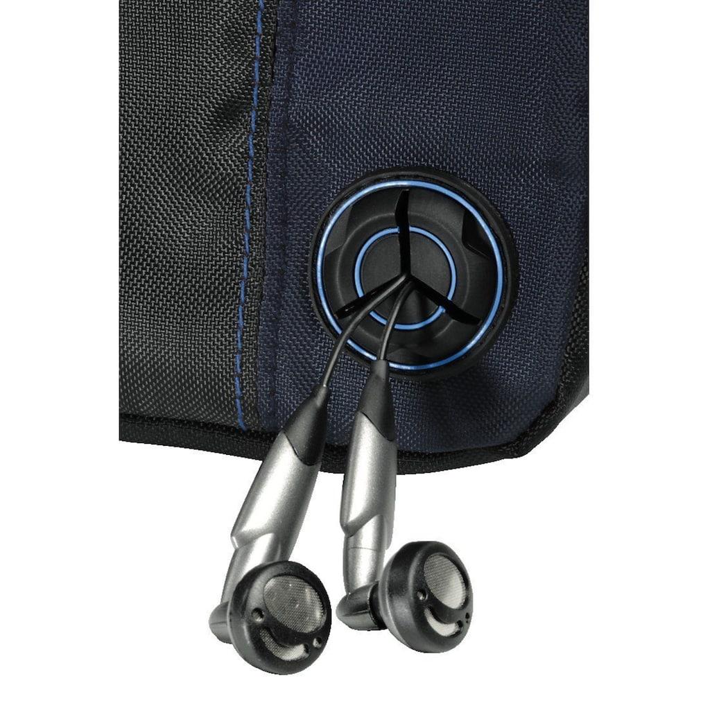 Hama CD-Player-Bag für Discman und 3 CDs, Schwarz/Blau