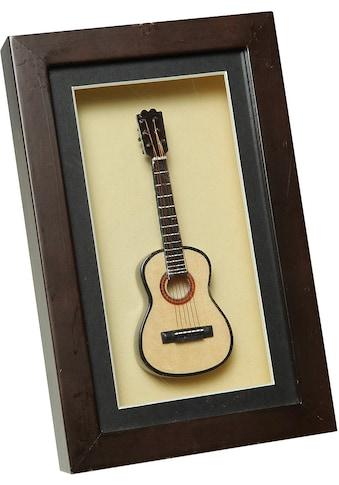 Ambiente Haus Dekofigur »Gitarre im Rahmen 22x14cm« kaufen
