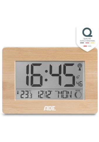 ADE Funkwecker »CK 1702«, Tischuhr mit echtem Bambus-Rahmen, Temperatur, DCF-Zeitsignal kaufen