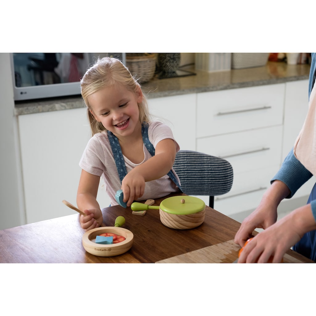 EverEarth® Kinder-Küchenset »Topf und Pfannenset«, FSC®-Holz aus gewissenhaft bewirtschafteten Wäldern