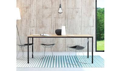 my home Esstisch »Family«, mit einer kratzfesten Melamienbeschichtung auf der Tischplatte, elegante Metallbeine kaufen