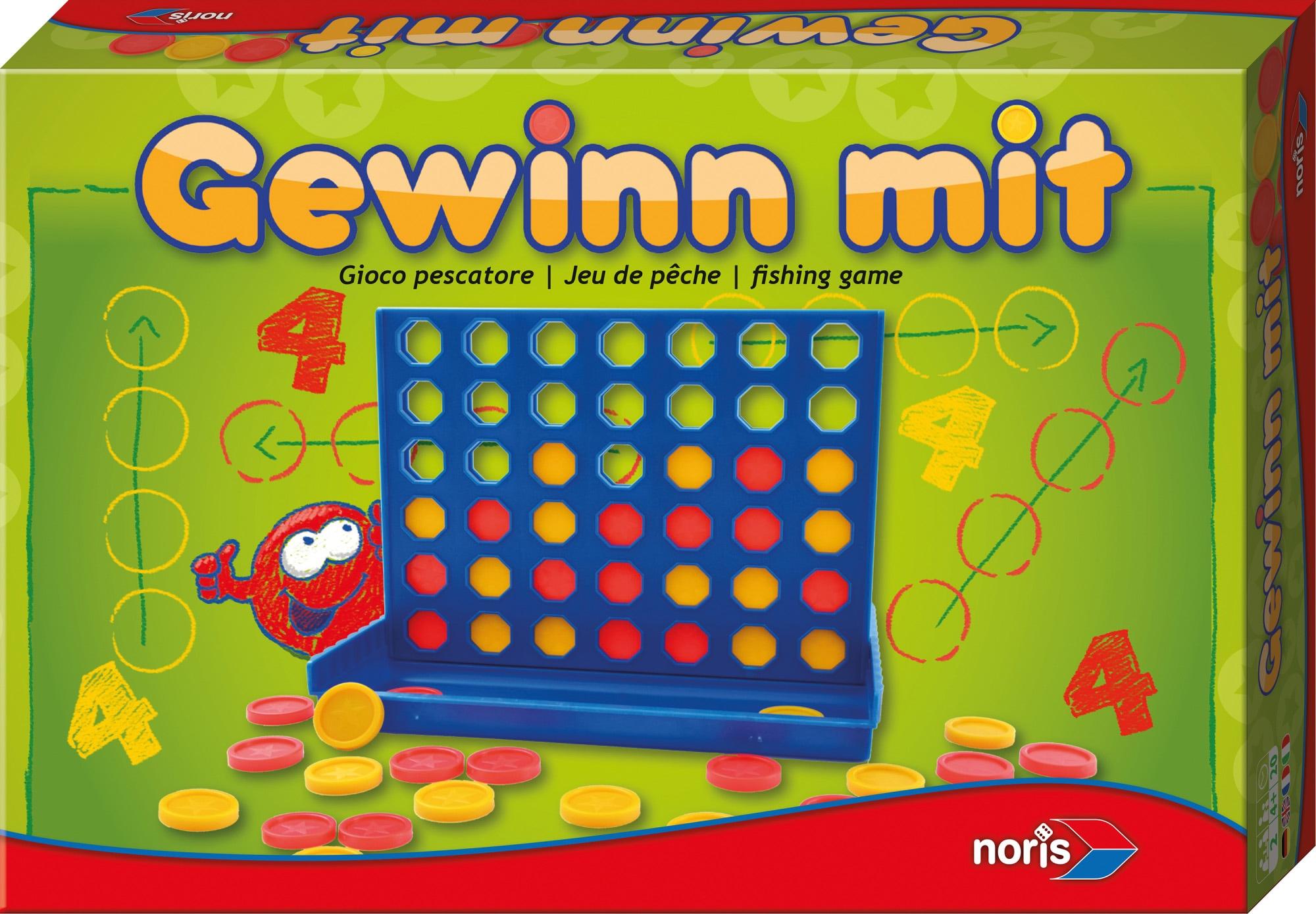 Noris Spiel, Gewinn mit 4 bunt Kinder Ab 6-8 Jahren Altersempfehlung Spiele