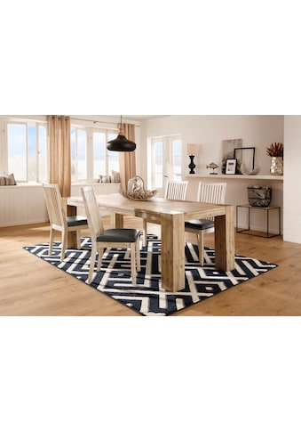 Home affaire 4-Fußstuhl »Malle«, im 2er-Set, aus massivem Akazienholz kaufen