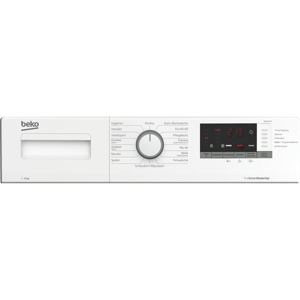 BEKO Waschmaschine »WMO6221«, WMO6221 7146543700, 6 kg, 1400 U/min