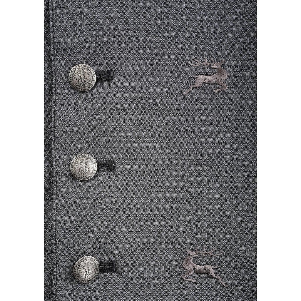 OS-Trachten Trachtenweste, mit Hirschdruck
