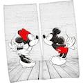 Walt Disney Badetuch »Mickey und Minnie Mouse«, (2 St.), mit romantischem Partner-Motiv