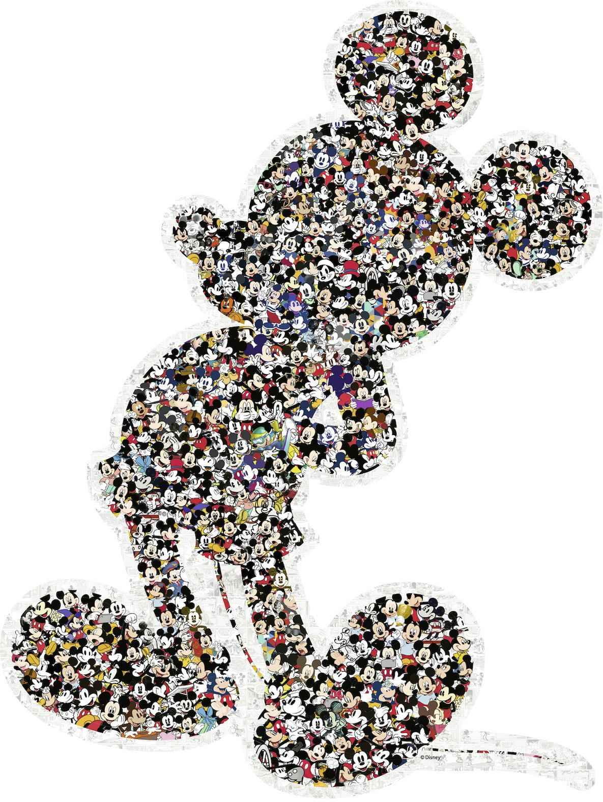 Ravensburger Konturenpuzzle Shaped Mickey, Made in Germany bunt Kinder Ab 12-15 Jahren Altersempfehlung Puzzles