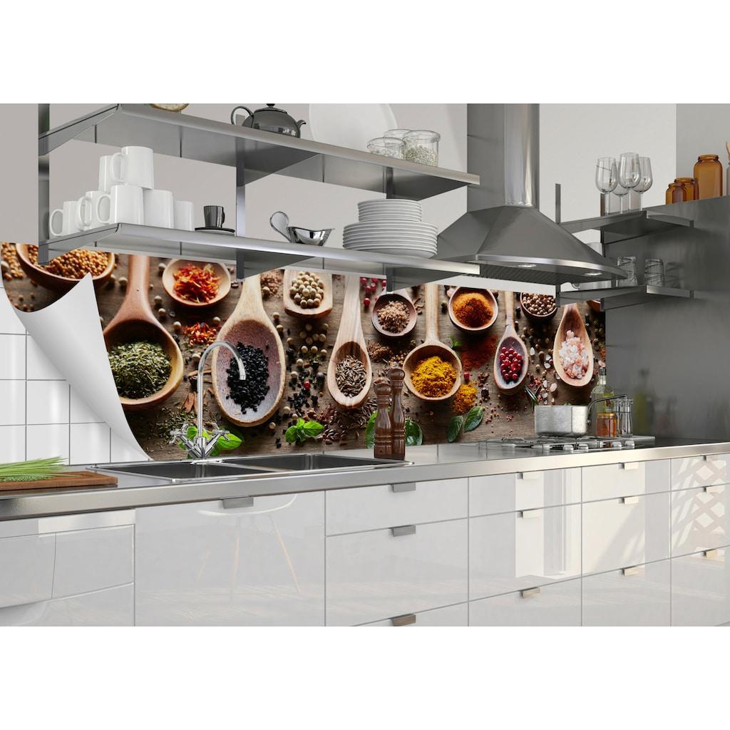 MySpotti Küchenrückwand »fixy Spicy Kitchen«, selbstklebende und flexible Küchenrückwand-Folie