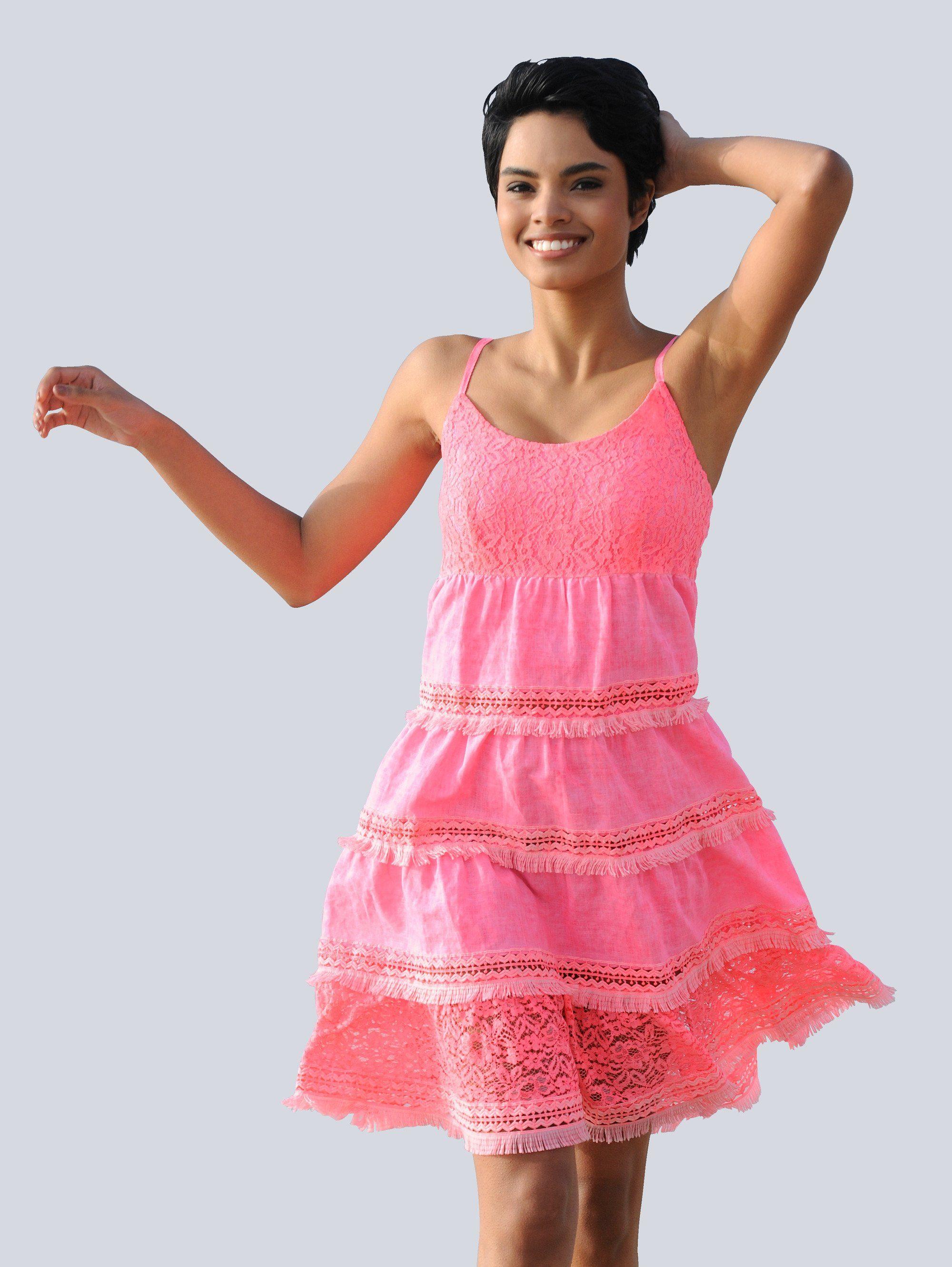 Alba Moda Kleid mit Leinen