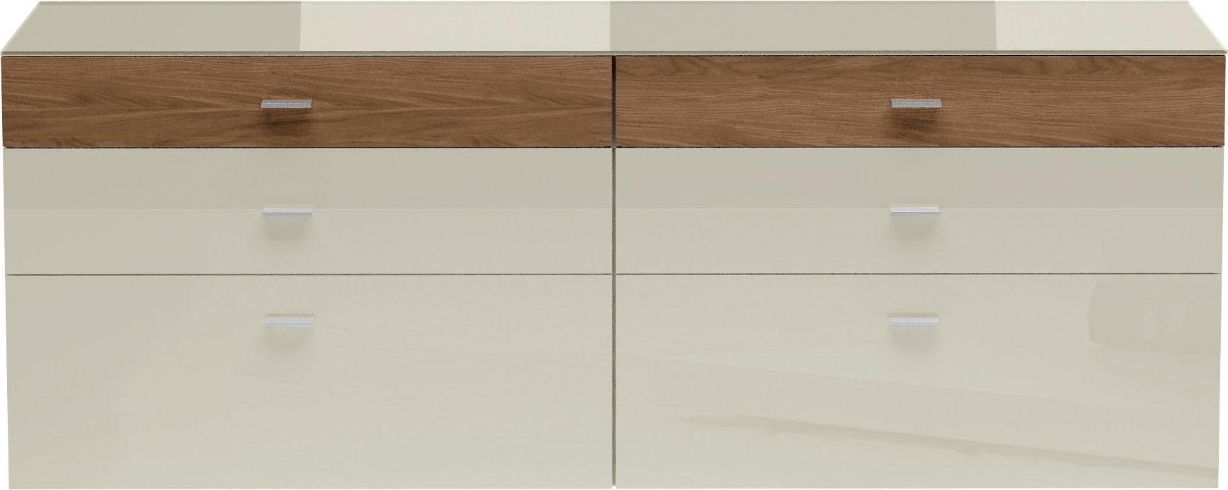 now! by hülsta Sideboard now! no 14 mit schmaler Holzfront Breite 210 cm