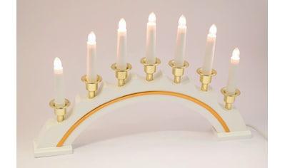 HGD Holz - Glas - Design Lichterbogen halbrund 7 - flammig, für Netzbetrieb kaufen