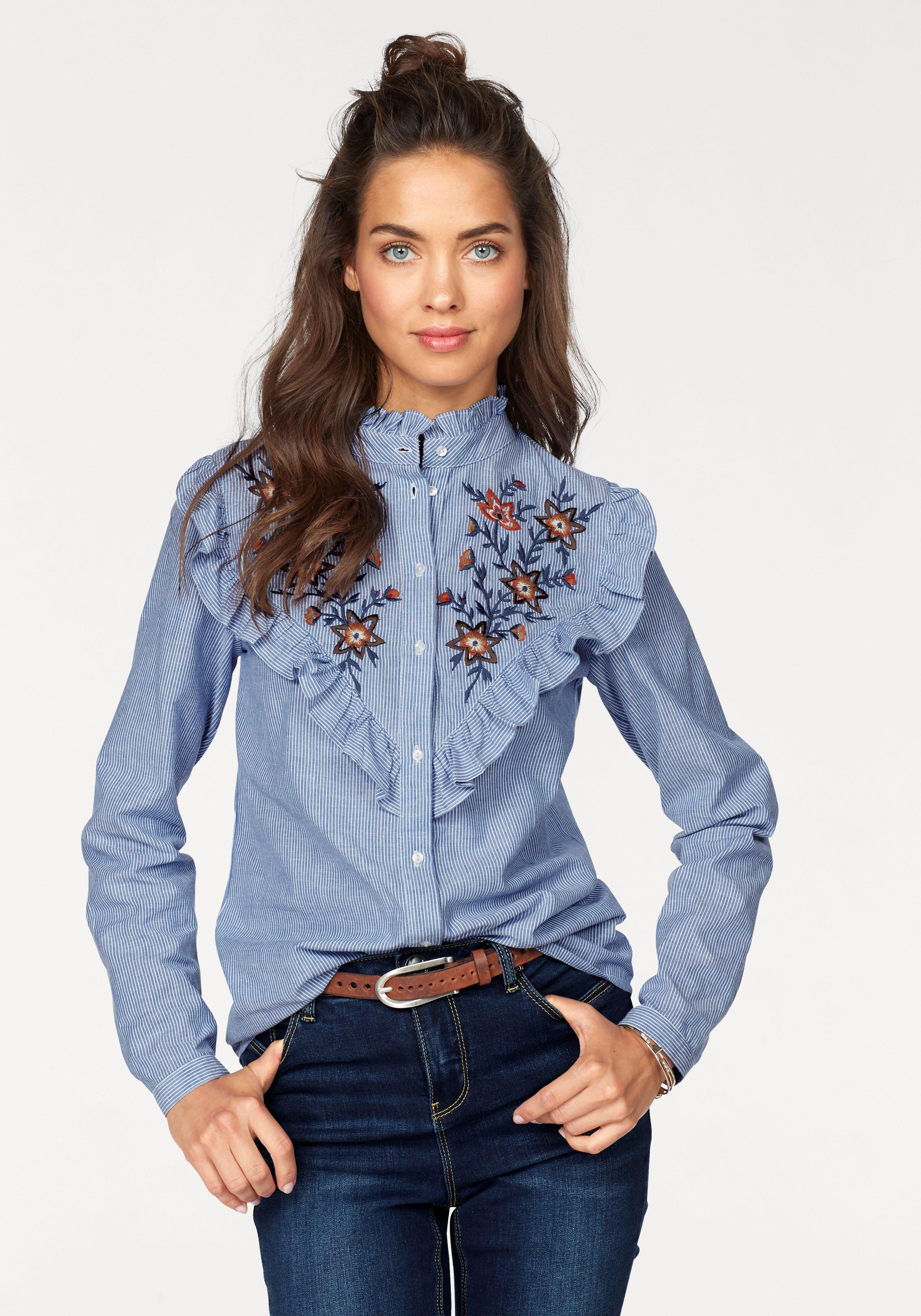 AJC Rüschenbluse | Bekleidung > Blusen > Rüschenblusen | Ajc