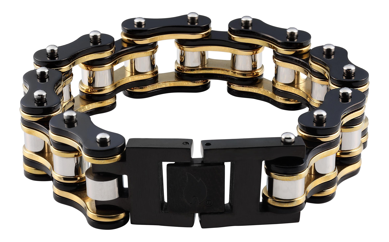 Zippo Armband Armband Biker Kette schwarz/gold | Schmuck > Armbänder > Goldarmbänder | Zippo