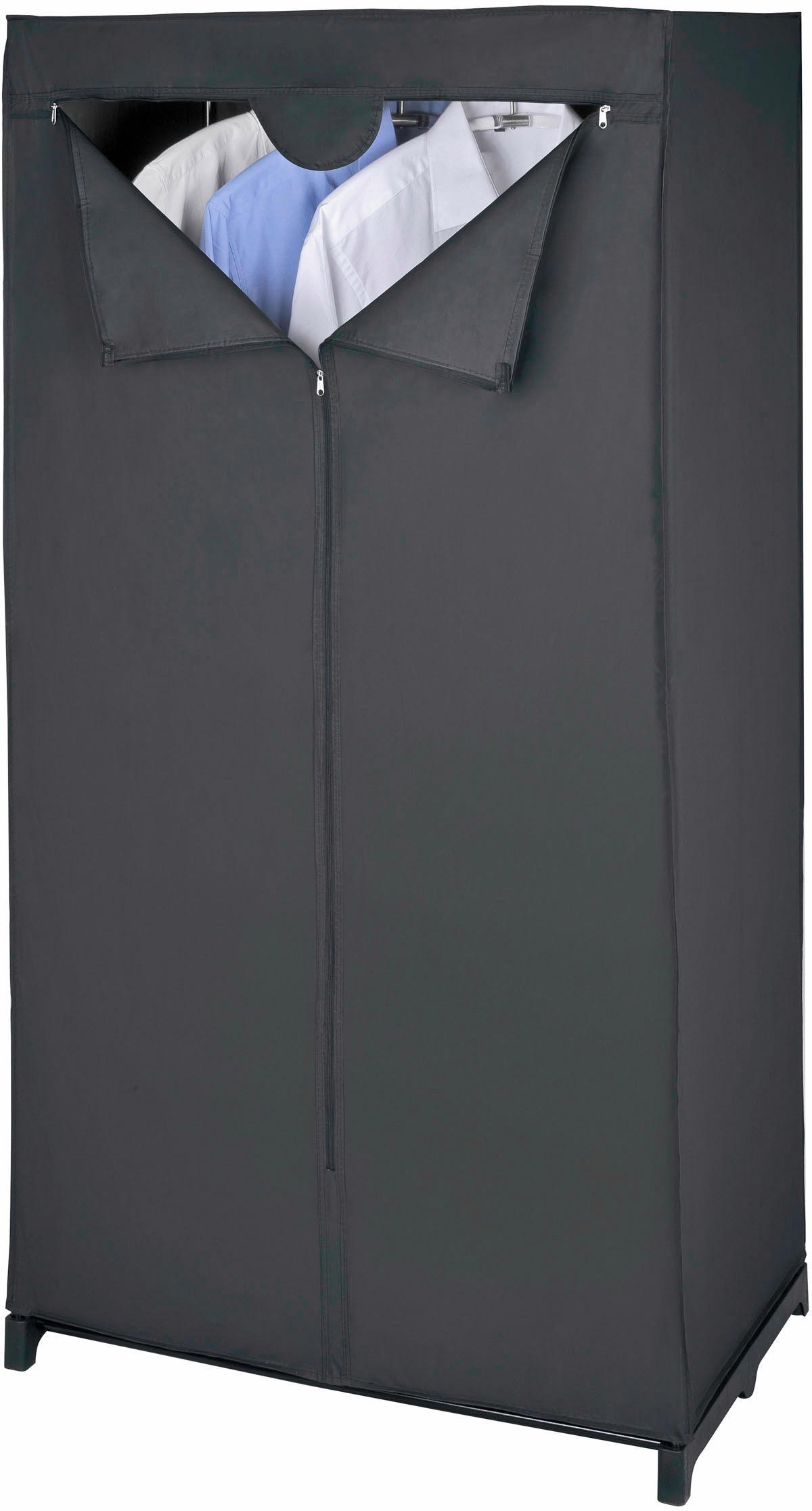 WENKO Kleiderschrank Deep Black schwarz Kleideraufbewahrung Aufbewahrung Ordnung Wohnaccessoires Schränke