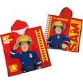 Feuerwehrmann Sam Badeponcho »Feuerwehrmann Sam«, (1 St.), mit Kapuze