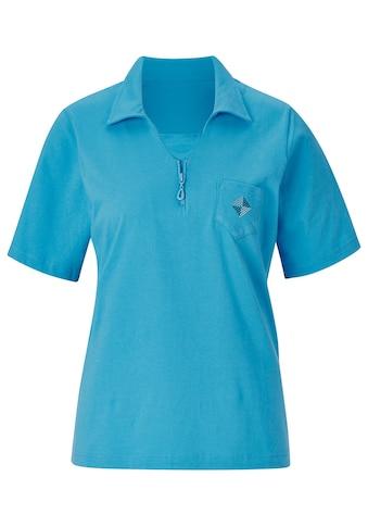 Classic Basics Shirt mit Zier - Reißverschluss kaufen