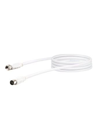 SCHWAIGER HDTV Satelliten-/ Antennenadapterkabel, 2-fach geschirmt »F-Stecker zu IEC Buchse« kaufen