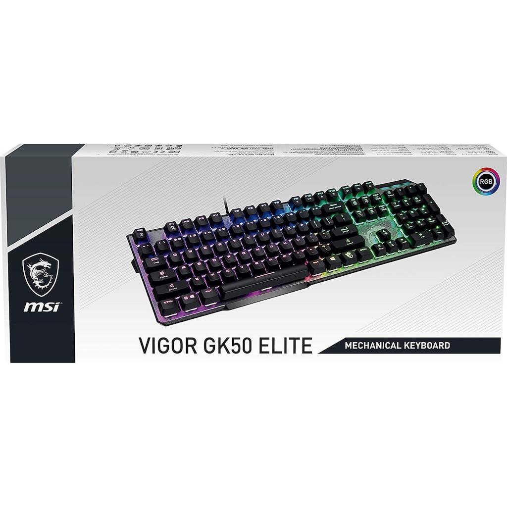 MSI Tastatur »Vigor GK50 Elite Box White«, (Gaming-Modus-USB-Anschluss), RGB-Beleuchtung pro Taste