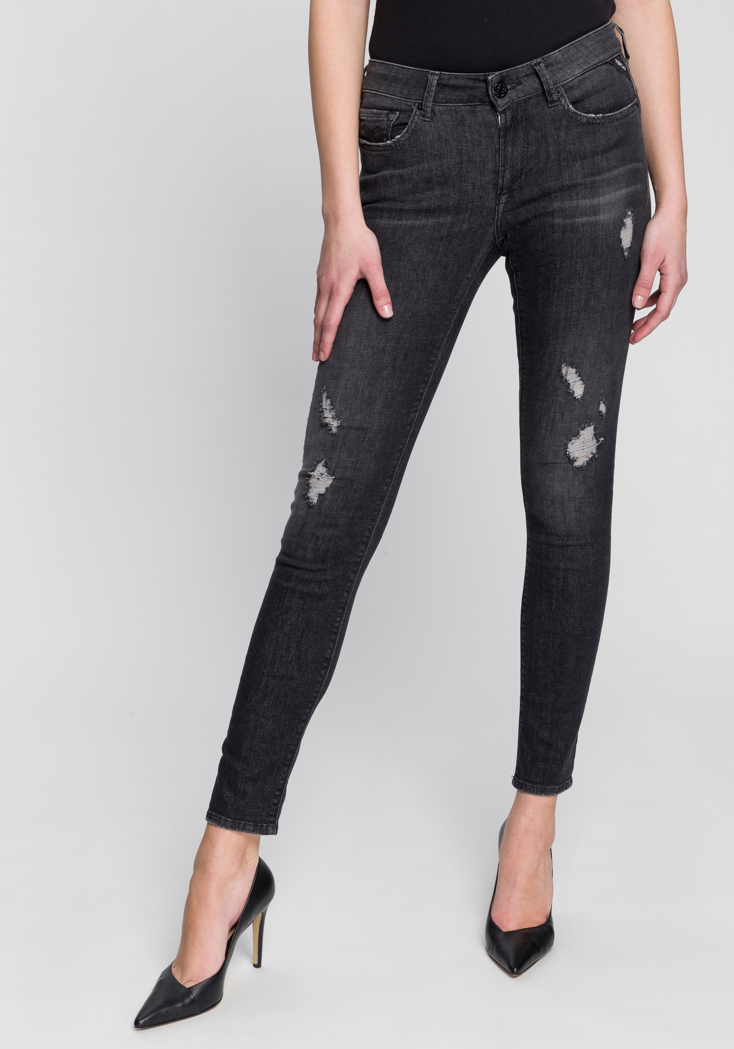 replay -  Skinny-fit-Jeans New Luz, im Five-Pocket-Style