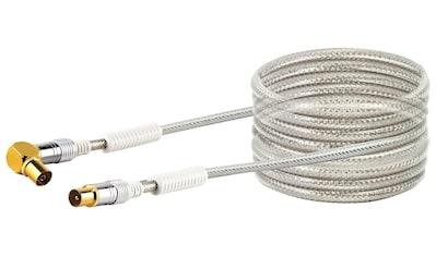 SCHWAIGER HDTV Antennenkabel TV, 4-fach geschirmt, 110 dB »IEC Stecker zu 90° IEC Buchse« kaufen