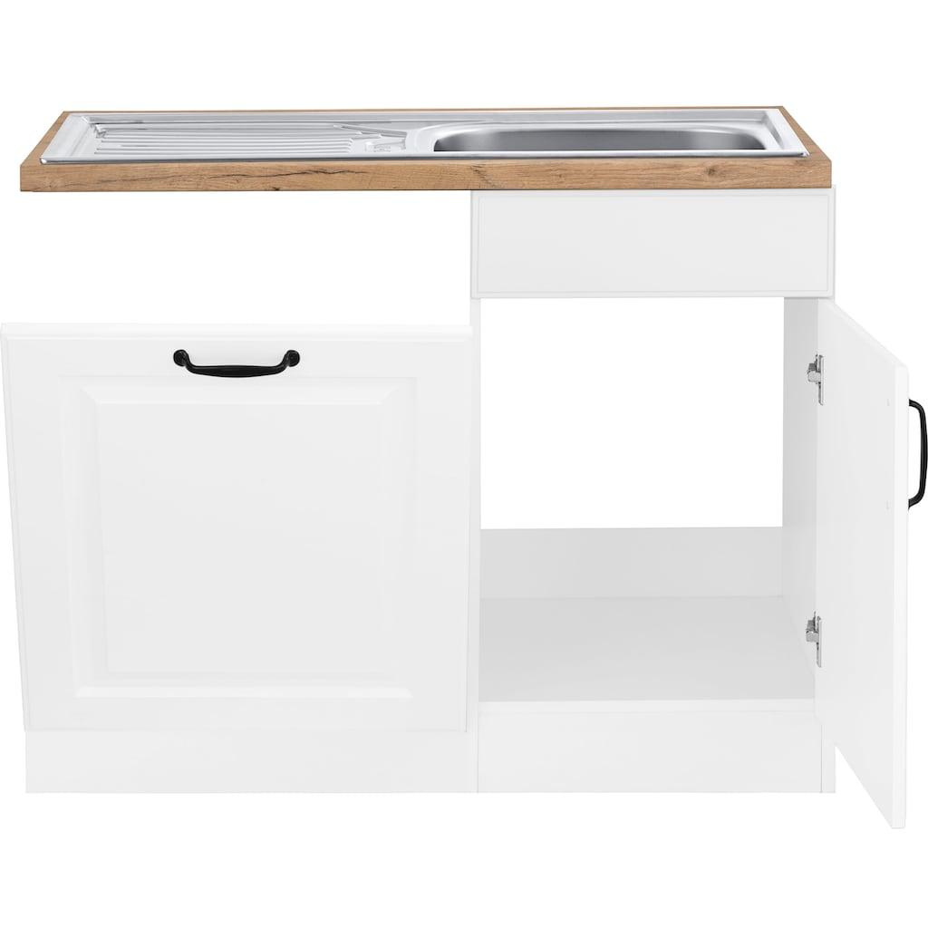 wiho Küchen Spülenschrank »Erla«, 110 cm breit, inkl. Tür/Sockel für Geschirrspüler