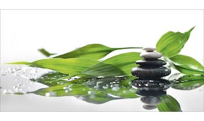 Home affaire Glasbild »KayaMe: Spa mit Steinen, und Bambus Zweig«, 100/50 cm kaufen