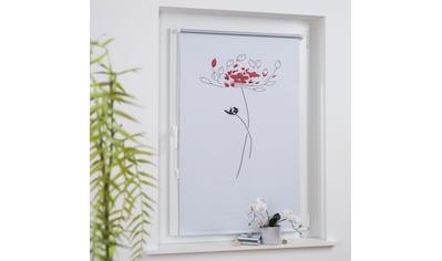 Liedeco Seitenzugrollo »Druckdesign Blume«, verdunkelnd, energiesparend, ohne Bohren,... kaufen