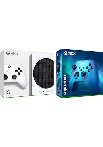 Xbox Konsole »Series S«, inkl. 2. Controller - Aqua Shift kaufen