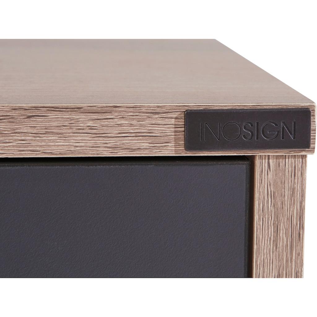 INOSIGN Couchtisch »Layland«, erstrahlt in schöner Holzoptik, pflegeleichte Oberfläche, Breite 120 cm