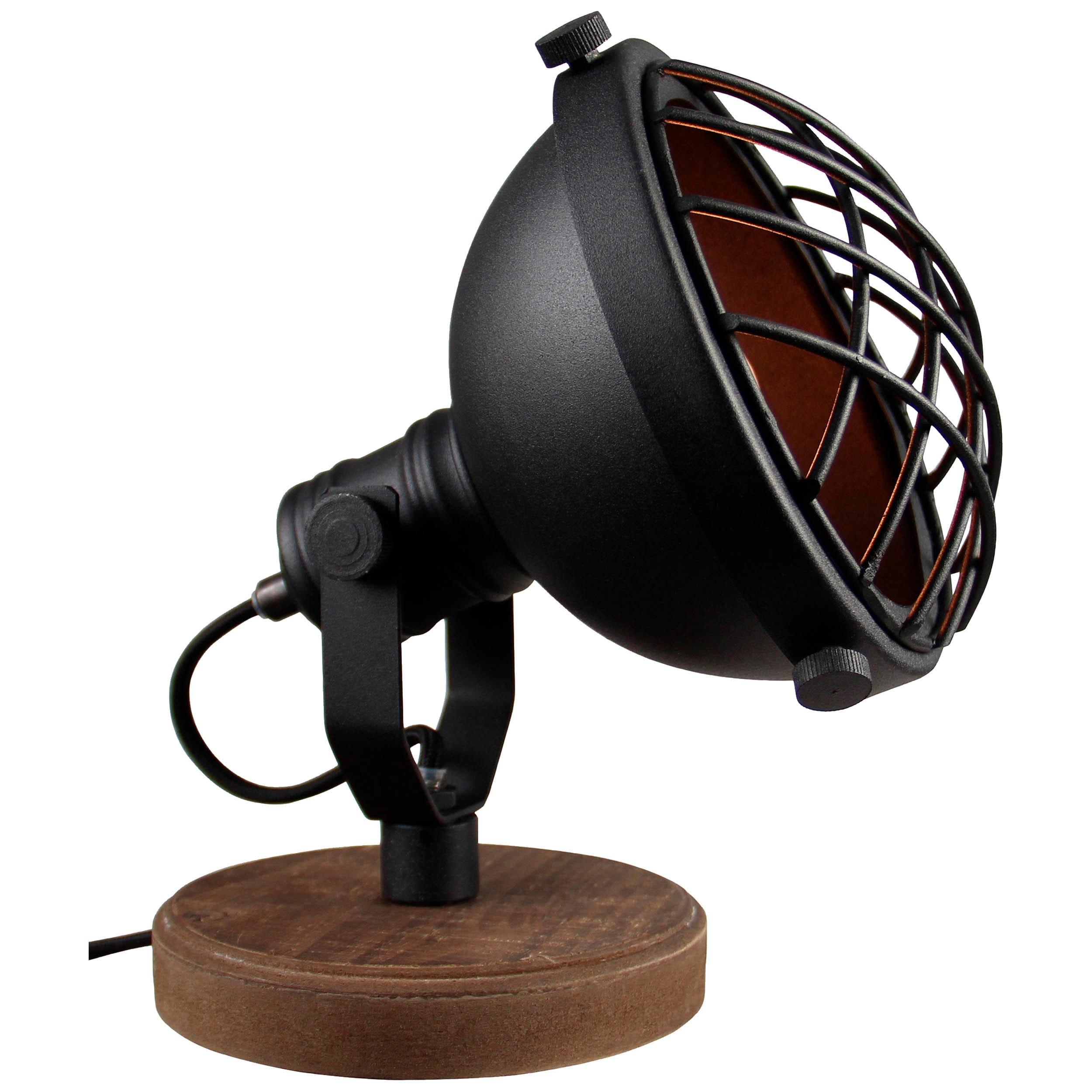 Brilliant Leuchten Mila Tischleuchte schwarz korund