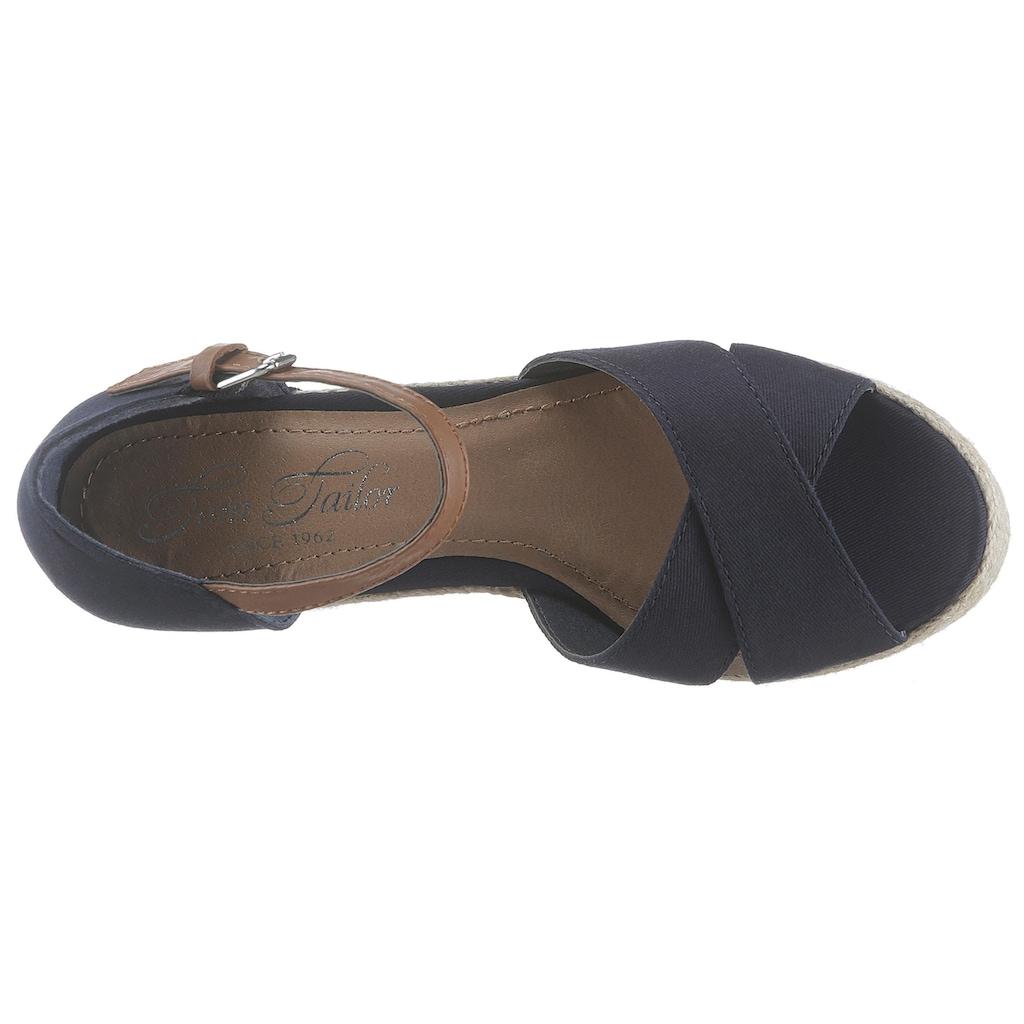TOM TAILOR Sandalette, mit verstellbarer Schnalle