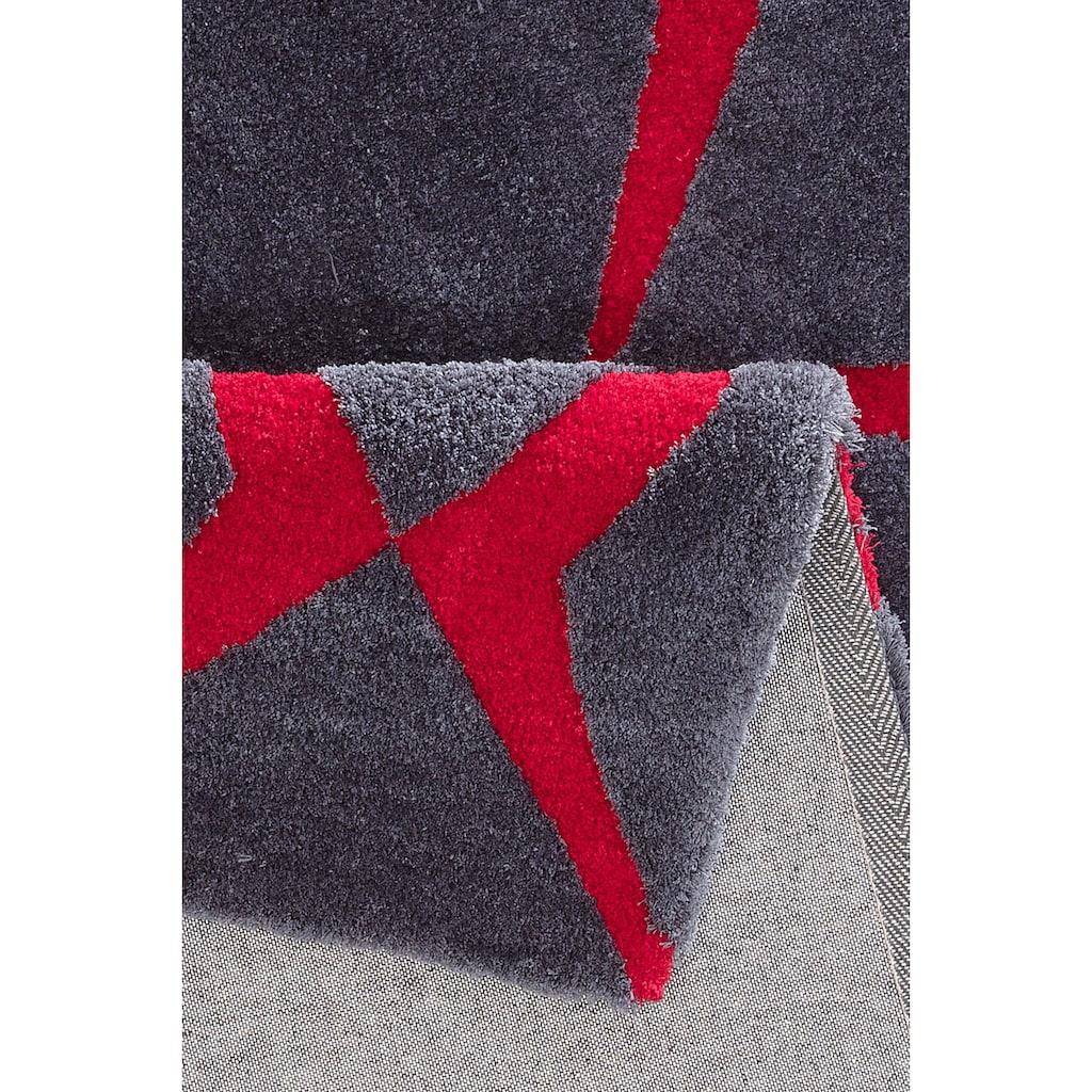 Bruno Banani Teppich »Gernot«, rechteckig, 18 mm Höhe, Besonders weich durch Mikrofaser, Wohnzimmer
